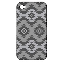 Triangle Wave Chevron Grey Sign Star Apple Iphone 4/4s Hardshell Case (pc+silicone)