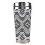 Triangle Wave Chevron Grey Sign Star Stainless Steel Travel Tumblers Center