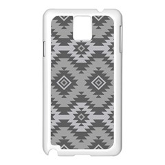 Triangle Wave Chevron Grey Sign Star Samsung Galaxy Note 3 N9005 Case (white)
