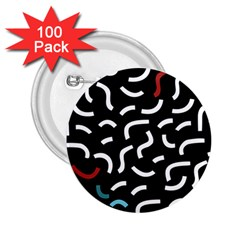 Toucan White Bluered 2 25  Buttons (100 Pack)