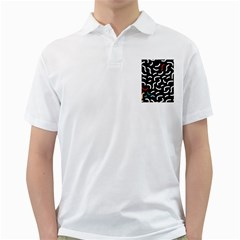 Toucan White Bluered Golf Shirts