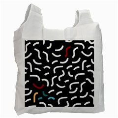 Toucan White Bluered Recycle Bag (one Side)