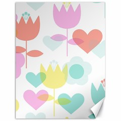 Tulip Lotus Sunflower Flower Floral Staer Love Pink Red Blue Green Canvas 18  X 24
