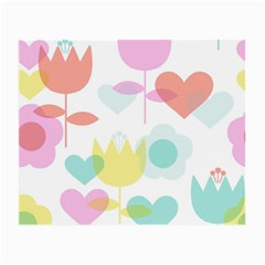 Tulip Lotus Sunflower Flower Floral Staer Love Pink Red Blue Green Small Glasses Cloth (2 Side)