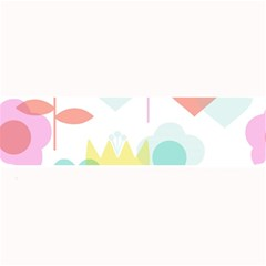 Tulip Lotus Sunflower Flower Floral Staer Love Pink Red Blue Green Large Bar Mats