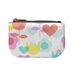 Tulip Lotus Sunflower Flower Floral Staer Love Pink Red Blue Green Mini Coin Purses