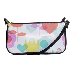 Tulip Lotus Sunflower Flower Floral Staer Love Pink Red Blue Green Shoulder Clutch Bags