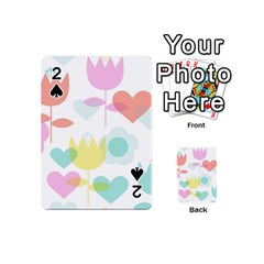 Tulip Lotus Sunflower Flower Floral Staer Love Pink Red Blue Green Playing Cards 54 (mini)