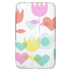 Tulip Lotus Sunflower Flower Floral Staer Love Pink Red Blue Green Samsung Galaxy Tab 3 (8 ) T3100 Hardshell Case