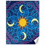 Sun Moon Star Space Vector Clipart Canvas 36  x 48   48 x36 Canvas - 1