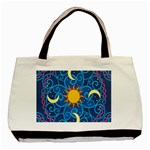 Sun Moon Star Space Vector Clipart Basic Tote Bag (Two Sides) Front