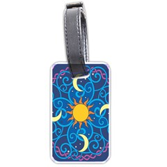 Sun Moon Star Space Vector Clipart Luggage Tags (one Side)