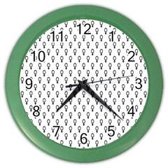 Woman Sign Circle Black Color Wall Clocks
