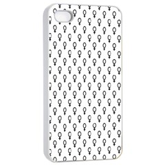 Woman Sign Circle Black Apple Iphone 4/4s Seamless Case (white)