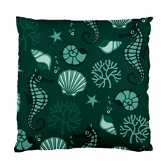 Vector Seamless Pattern With Sea Fauna Seaworld Standard Cushion Case (one Side)