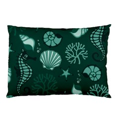 Vector Seamless Pattern With Sea Fauna Seaworld Pillow Case