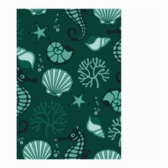 Vector Seamless Pattern With Sea Fauna Seaworld Small Garden Flag (two Sides)