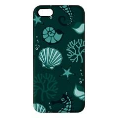 Vector Seamless Pattern With Sea Fauna Seaworld Iphone 5s/ Se Premium Hardshell Case
