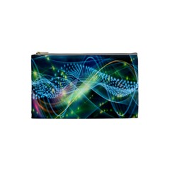 Waveslight Chevron Line Net Blue Cosmetic Bag (small)