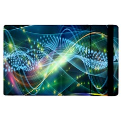 Waveslight Chevron Line Net Blue Apple Ipad 2 Flip Case