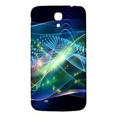 Waveslight Chevron Line Net Blue Samsung Galaxy Mega I9200 Hardshell Back Case