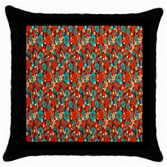 Surface Patterns Bright Flower Floral Sunflower Throw Pillow Case (black)