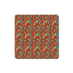 Surface Patterns Bright Flower Floral Sunflower Square Magnet