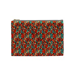 Surface Patterns Bright Flower Floral Sunflower Cosmetic Bag (medium)
