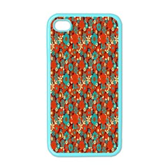 Surface Patterns Bright Flower Floral Sunflower Apple Iphone 4 Case (color)