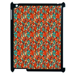 Surface Patterns Bright Flower Floral Sunflower Apple Ipad 2 Case (black)