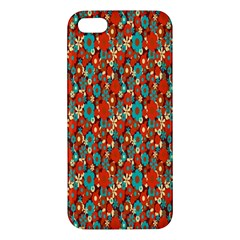 Surface Patterns Bright Flower Floral Sunflower Apple Iphone 5 Premium Hardshell Case