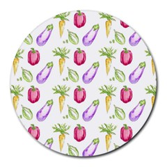 Vegetable Pattern Carrot Round Mousepads