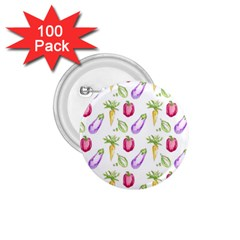 Vegetable Pattern Carrot 1 75  Buttons (100 Pack)