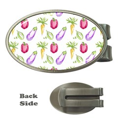 Vegetable Pattern Carrot Money Clips (oval)