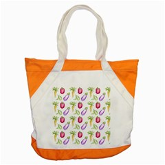 Vegetable Pattern Carrot Accent Tote Bag