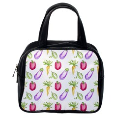 Vegetable Pattern Carrot Classic Handbags (one Side)