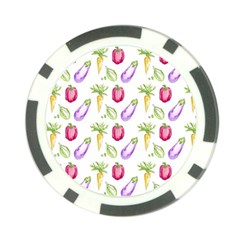 Vegetable Pattern Carrot Poker Chip Card Guard (10 Pack)