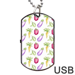 Vegetable Pattern Carrot Dog Tag Usb Flash (two Sides)