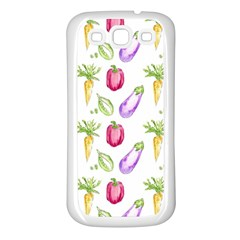 Vegetable Pattern Carrot Samsung Galaxy S3 Back Case (white)