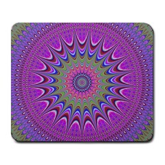 Art Mandala Design Ornament Flower Large Mousepads