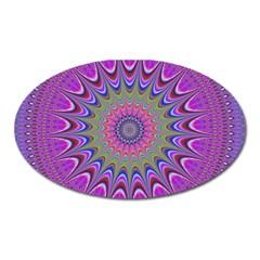 Art Mandala Design Ornament Flower Oval Magnet