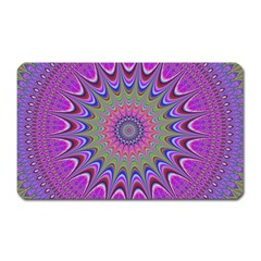 Art Mandala Design Ornament Flower Magnet (rectangular)