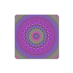 Art Mandala Design Ornament Flower Square Magnet