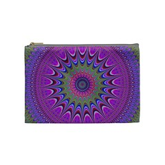 Art Mandala Design Ornament Flower Cosmetic Bag (medium)