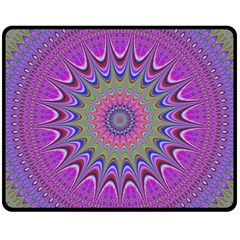 Art Mandala Design Ornament Flower Fleece Blanket (medium)