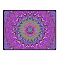 Art Mandala Design Ornament Flower Fleece Blanket (small)