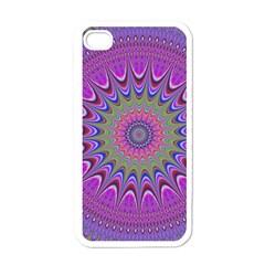 Art Mandala Design Ornament Flower Apple Iphone 4 Case (white)