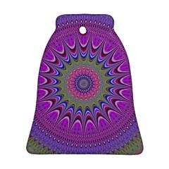 Art Mandala Design Ornament Flower Bell Ornament (two Sides)