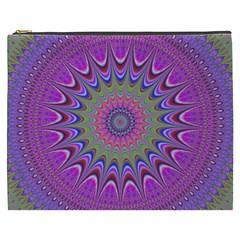 Art Mandala Design Ornament Flower Cosmetic Bag (xxxl)