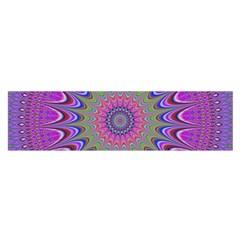 Art Mandala Design Ornament Flower Satin Scarf (oblong)